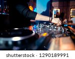 dj console at the nightclub.... | Shutterstock . vector #1290189991