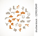 Texas icons - stock vector