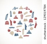 new york  symbols | Shutterstock .eps vector #129019784