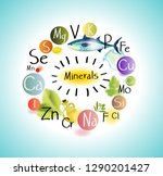 all minerals for health... | Shutterstock .eps vector #1290201427