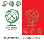 globe icon in trendy flat style ...