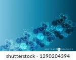 science network pattern ... | Shutterstock .eps vector #1290204394