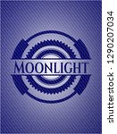 moonlight denim background | Shutterstock .eps vector #1290207034