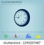 vector clock icon. vector... | Shutterstock .eps vector #1290207487