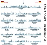 germany state capitals cities... | Shutterstock .eps vector #1290217591