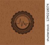 electrocardiogram icon inside... | Shutterstock .eps vector #1290218074