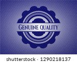 genuine quality emblem with... | Shutterstock .eps vector #1290218137