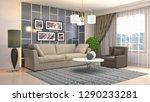 interior of the living room. 3d ... | Shutterstock . vector #1290233281