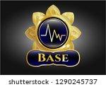 golden emblem with... | Shutterstock .eps vector #1290245737