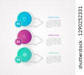 3 steps or 3 options... | Shutterstock .eps vector #1290252331