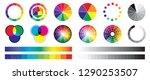 color wheel wheels types of... | Shutterstock .eps vector #1290253507