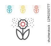 Flower Pollen Line Icon. Vecto...
