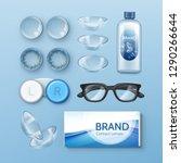vector set of optometry... | Shutterstock .eps vector #1290266644