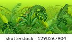 seamless pattern with jungle... | Shutterstock .eps vector #1290267904