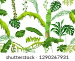 seamless pattern with jungle... | Shutterstock .eps vector #1290267931