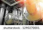 equipment  cables and piping as ... | Shutterstock . vector #1290270001