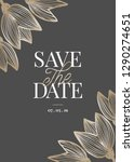 save the date template with... | Shutterstock .eps vector #1290274651
