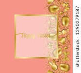 happy easter greeting card with ... | Shutterstock .eps vector #1290279187