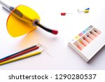 endodontic instruments on white.... | Shutterstock . vector #1290280537