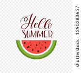 watermelon slice with text... | Shutterstock .eps vector #1290283657
