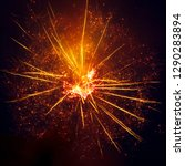 fireworks in the sky at night...   Shutterstock . vector #1290283894
