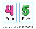 printable flash card collection ... | Shutterstock .eps vector #1290288091