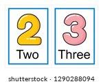 printable flash card collection ... | Shutterstock .eps vector #1290288094