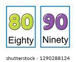 printable flash card collection ... | Shutterstock .eps vector #1290288124