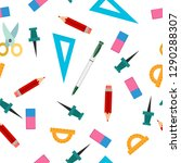 seamless pattern of tools for... | Shutterstock .eps vector #1290288307