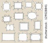 set of vector doodle frames   Shutterstock .eps vector #129028841