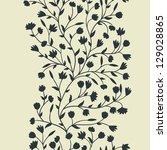 floral seamless pattern | Shutterstock .eps vector #129028865