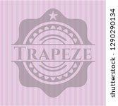trapeze realistic pink emblem | Shutterstock .eps vector #1290290134