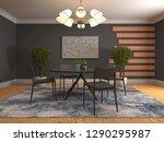 interior dining area. 3d... | Shutterstock . vector #1290295987