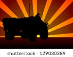 armored troop carrier | Shutterstock .eps vector #129030389