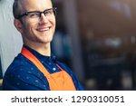 portrait of happy young man... | Shutterstock . vector #1290310051