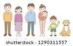 three generations family... | Shutterstock . vector #1290311557