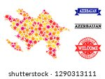 mosaic map of azerbaijan... | Shutterstock .eps vector #1290313111
