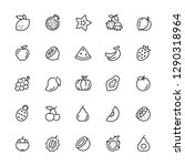 fruits icon. editable vector... | Shutterstock .eps vector #1290318964