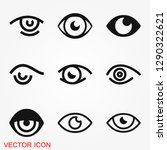 eye icon  flat icon for logo ... | Shutterstock .eps vector #1290322621