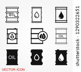 oil drum container icon logo ... | Shutterstock .eps vector #1290322651