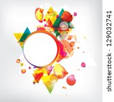 abstract modern banner with... | Shutterstock . vector #129032741