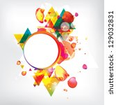 abstract modern banner with... | Shutterstock .eps vector #129032831