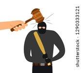 legal punishment of criminal...   Shutterstock .eps vector #1290333121