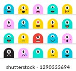 set of emoticons stickers ... | Shutterstock .eps vector #1290333694