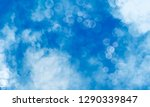 abstract blue watercolor... | Shutterstock . vector #1290339847