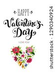 happy valentines day card.... | Shutterstock .eps vector #1290340924