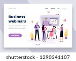 students or employees learning...   Shutterstock .eps vector #1290341107