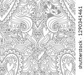 coloring picture with the... | Shutterstock .eps vector #1290341461