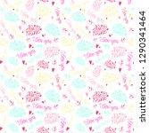 unique set of love hand... | Shutterstock .eps vector #1290341464