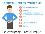 genital herpes symptoms.... | Shutterstock .eps vector #1290349837